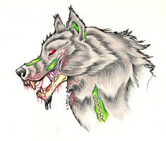 Zombie Wolf by Nathaldron