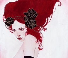 Red Hair Woman by WomanInViolet1988