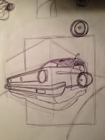 Retro Future hover car sketch by J-A-Y-E