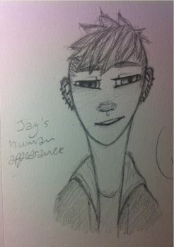 Jay's human appearance by DinosaursAwesome