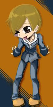 Masaomi Chibi colored by FlabberGhaster