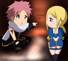 Nalu chibi - request colouring by felixne