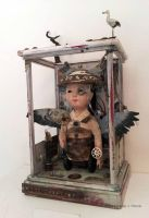 Assemblage: Phone Booth Samurai by bugatha1