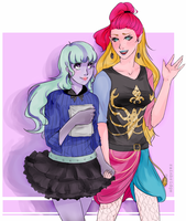 Gigi and Twyla by SpaceMcgyver