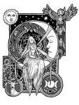 Girl in the moon by Phantagrafie