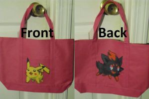 Pikachu and Zorua Purse by SailorUsagiChan