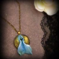 Pearls and Scales: Mermaid Vulva Necklace by VulvaLoveLovely