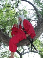 Inuyasha Lost in thoughts by vitainuka