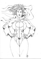 Powergirl 040911 by JeanSinclairArts
