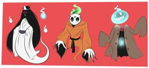 DRAWLLOWEEN 2015 - Ghosts by Glitch-Whiskers