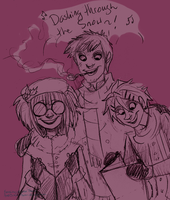 And a Caroling the Trio Will Go~ by Simply-Psycho