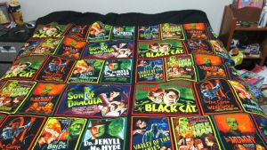 Monster Movie Quilt : First Commission Ever! by VioletStrife
