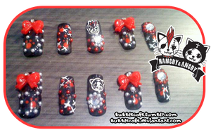 Hangry + Angry Nails by BubbleCafe