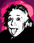 Albert Einstein Pop Art by AskGriff