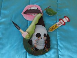 Genetically Modified Food - Symbolic sculpture by MischiefLily