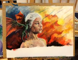 Daenerys Targaryen and Drogon - Game of Thrones by Mirish