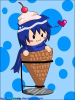 Digital: Chibi Ice Cream Kaito by Marthnely-chan