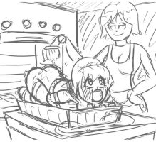Katie Cooked Sketch by 34Qucker