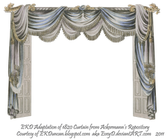 1820 EKD Regency Curtain Room 3 - curtain only by EveyD