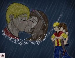 Kissing in the Rain by BlackBeltMaster