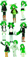 Many Versions Of Midori by sarathehedgehog11