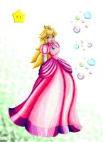 Princess Peach ~ Spring Day by 3456gal