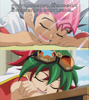 Yuma and Yuya sleeping in class by Gamesandanimations