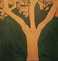 brown paper tree by emilywilsher