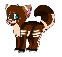 Chocolate Wolf (OPEN) by Bailey-Kat