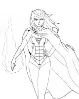 Scarlet Witch sketch by Tedbob