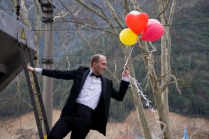 007 James Bond With Balloons by aydnahmet