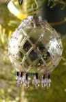 Christmas ornament, netted by srebrnaFH