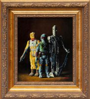 Boba Fett, IG-88 and Bossk - Oil Painting by matsgunnarsson