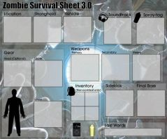 Zombie survival sheet 3 blank by Lerichem