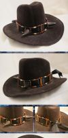Old West Steampunk Buffalo-Horned Hat Band II by Windthin