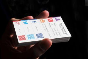 Handheld Business Card Mokeup by junaid by OptimasDesign