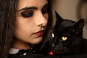 Diana and Noche by JulianaTavera