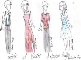 District 5 Interview Outfits by wearetheakatsuki
