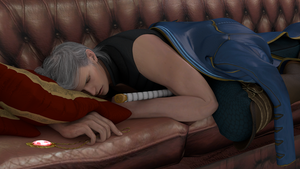 Sleeping Vergil by Taitiii