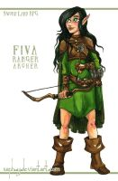 +Commission+ Fiva the Wood Elf Ranger by Saph-y