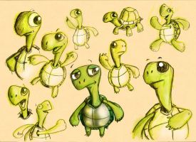 turtle character by richard-chin