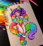 Rainbow Nekomimi - Commission by danniichan