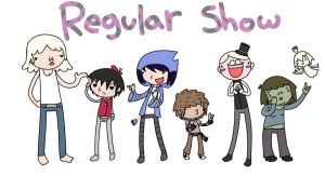 Regular show human cast by CoffeeFueledFangirl