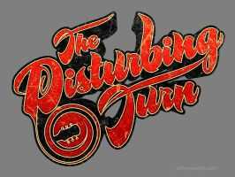 Disturbing Turn - 70's style tee shirt design by JefferyWright