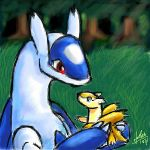 Latios and baby by nepryne