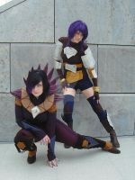 Starling and Cyclonis Cosplay by Knorke-chan