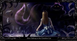Alice and the chesshire cat by JesusAConde