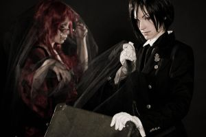 Sebastian + Grell - Does Grell fit into this case? by RomaiLee