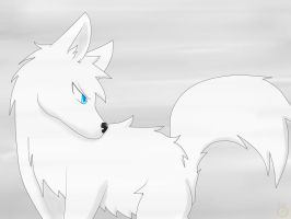 White wolf bro by narupikalover