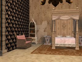 Palace #2: Medieval Royal Bedroom by dualiman